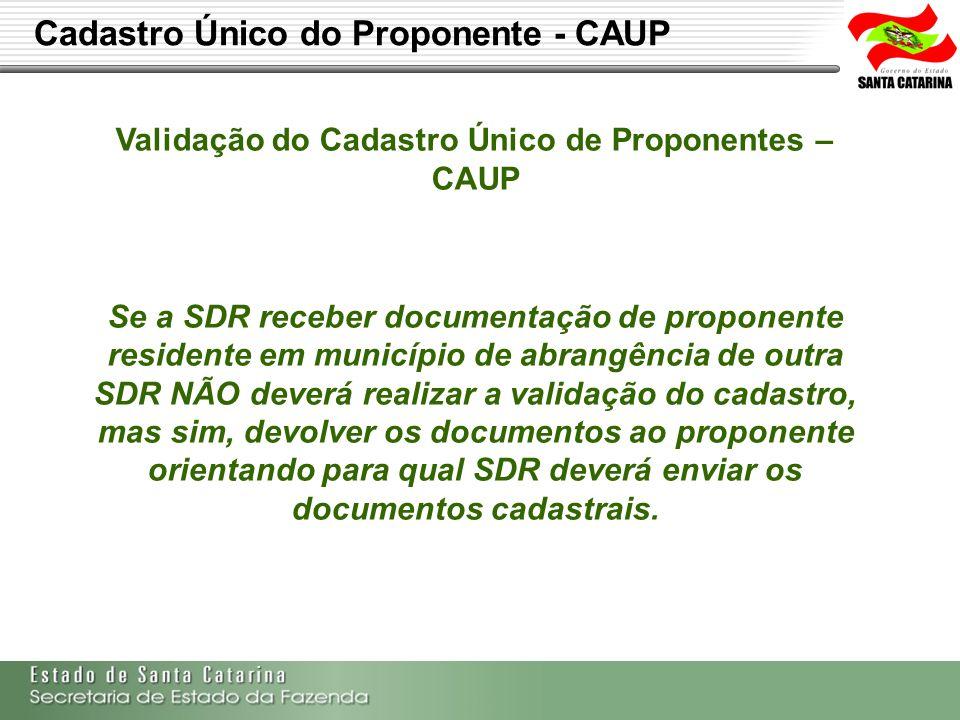 Secretaria de Estado da Fazenda de Santa Catarina – SEF/SC Indra Politec Qualquer correção nos dados só poderá ser realizada pelo servidor responsável pela validação do cadastro.