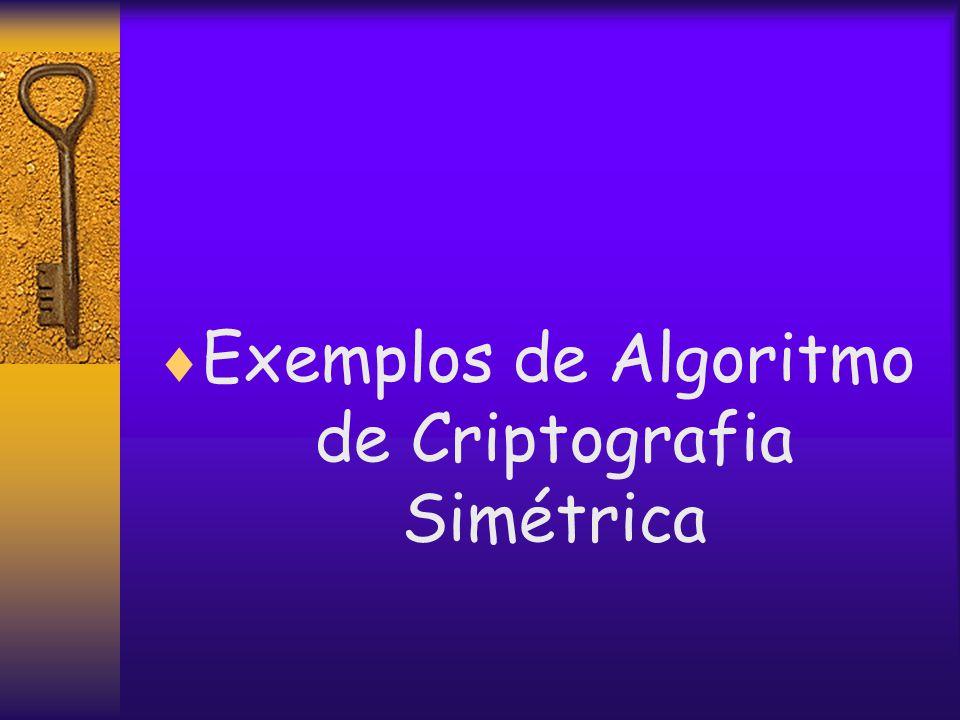  Exemplos de Algoritmo de Criptografia Simétrica