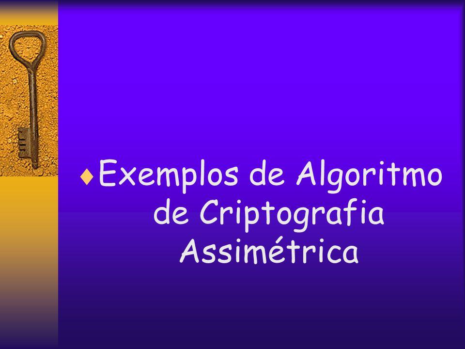  Exemplos de Algoritmo de Criptografia Assimétrica