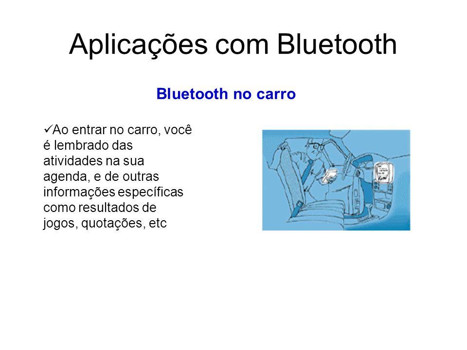 Aplicações com Bluetooth Bluetooth no carro Ao entrar no carro, você é lembrado das atividades na sua agenda, e de outras informações específicas como resultados de jogos, quotações, etc