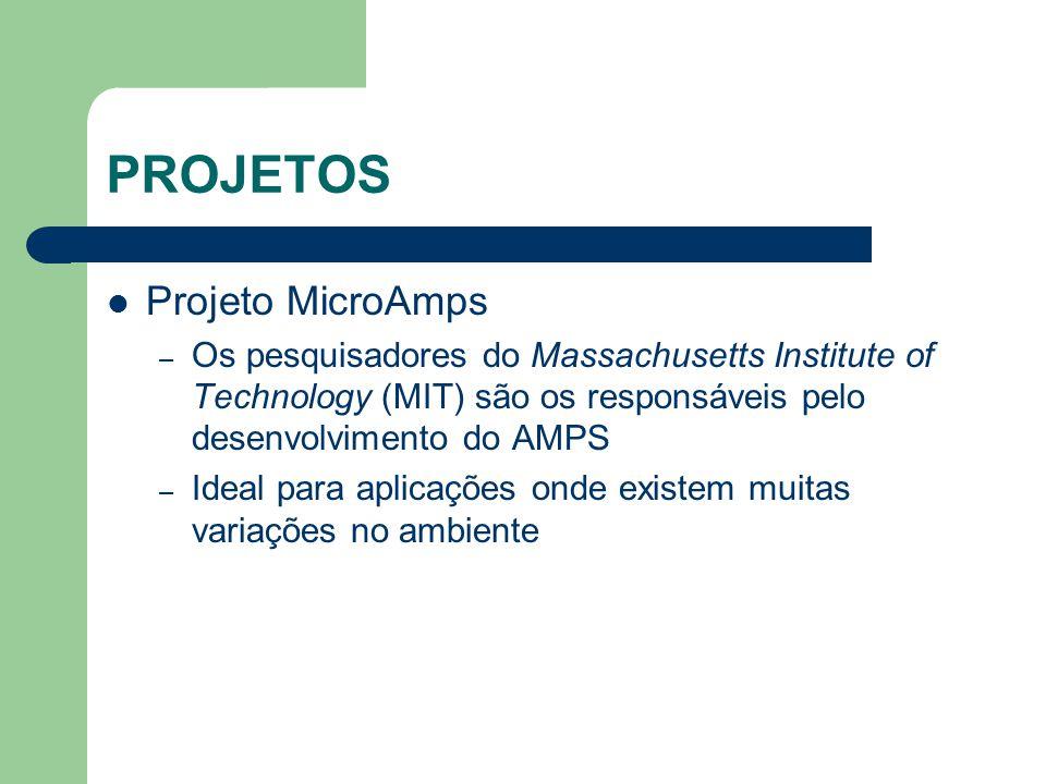 PROJETOS Projeto MicroAmps – Os pesquisadores do Massachusetts Institute of Technology (MIT) são os responsáveis pelo desenvolvimento do AMPS – Ideal
