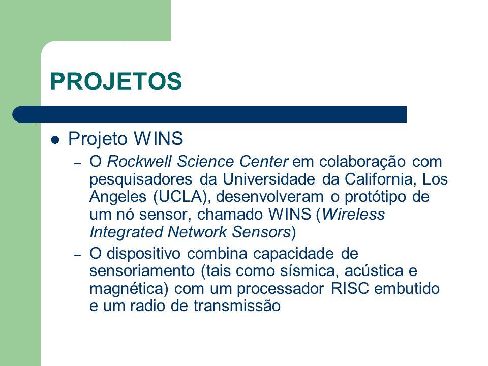 PROJETOS Projeto WINS – O Rockwell Science Center em colaboração com pesquisadores da Universidade da California, Los Angeles (UCLA), desenvolveram o