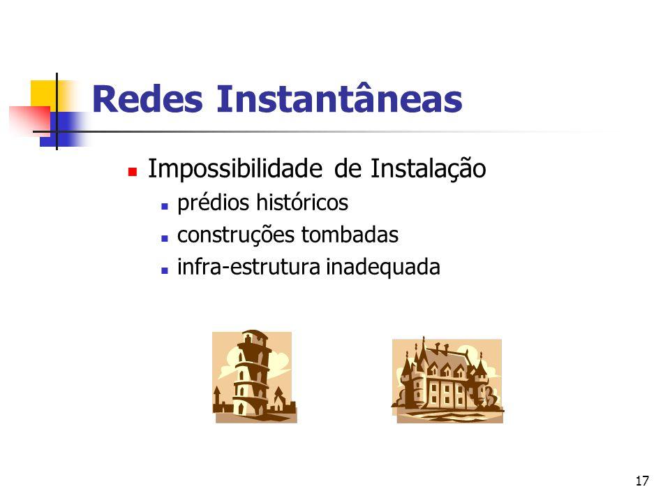 17 Redes Instantâneas Impossibilidade de Instalação prédios históricos construções tombadas infra-estrutura inadequada