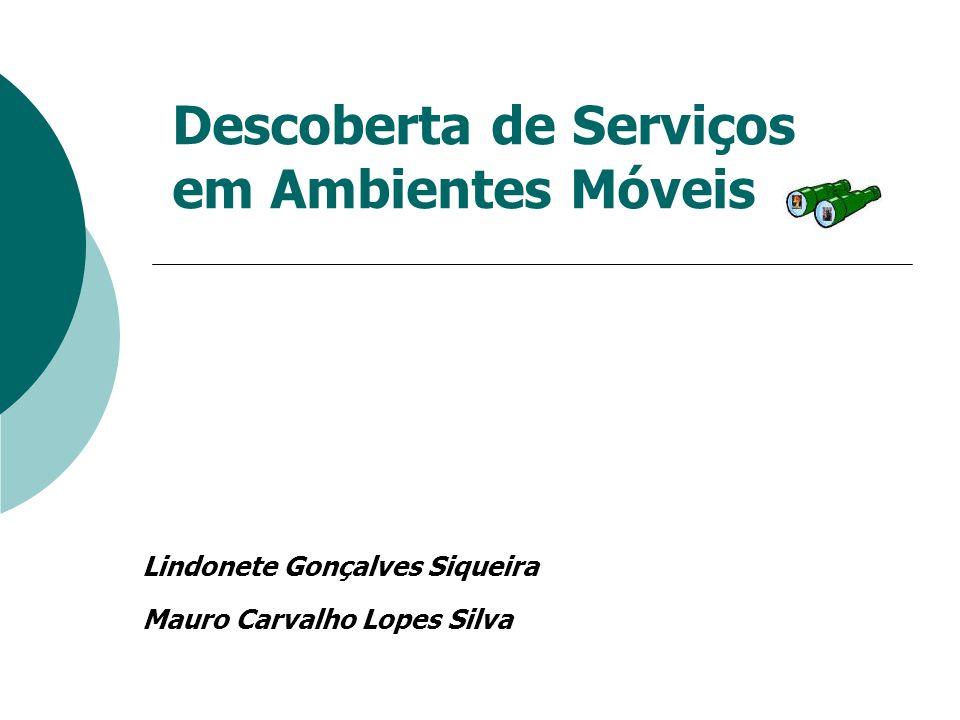 Descoberta de Serviços em Ambientes Móveis Lindonete Gonçalves Siqueira Mauro Carvalho Lopes Silva
