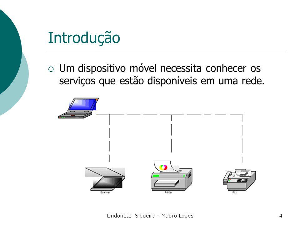 Lindonete Siqueira - Mauro Lopes35 Exemplo:  Uma impressora pode se conectar a uma rede e divulgar seus serviços.