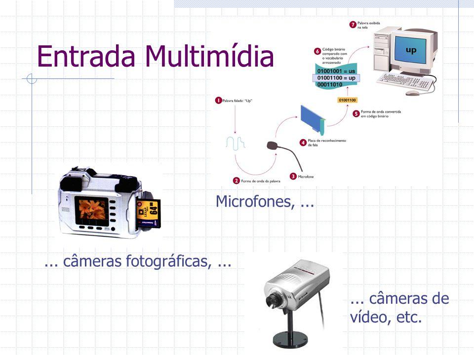 Microfones,...... câmeras fotográficas,...... câmeras de vídeo, etc. Entrada Multimídia