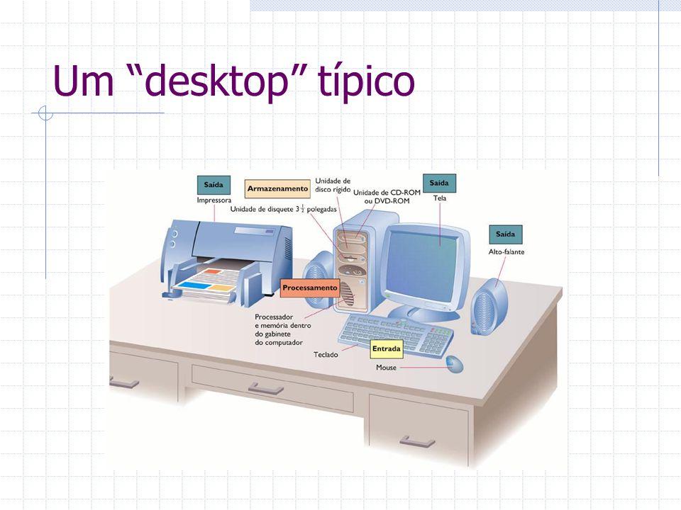 """Um """"desktop"""" típico"""