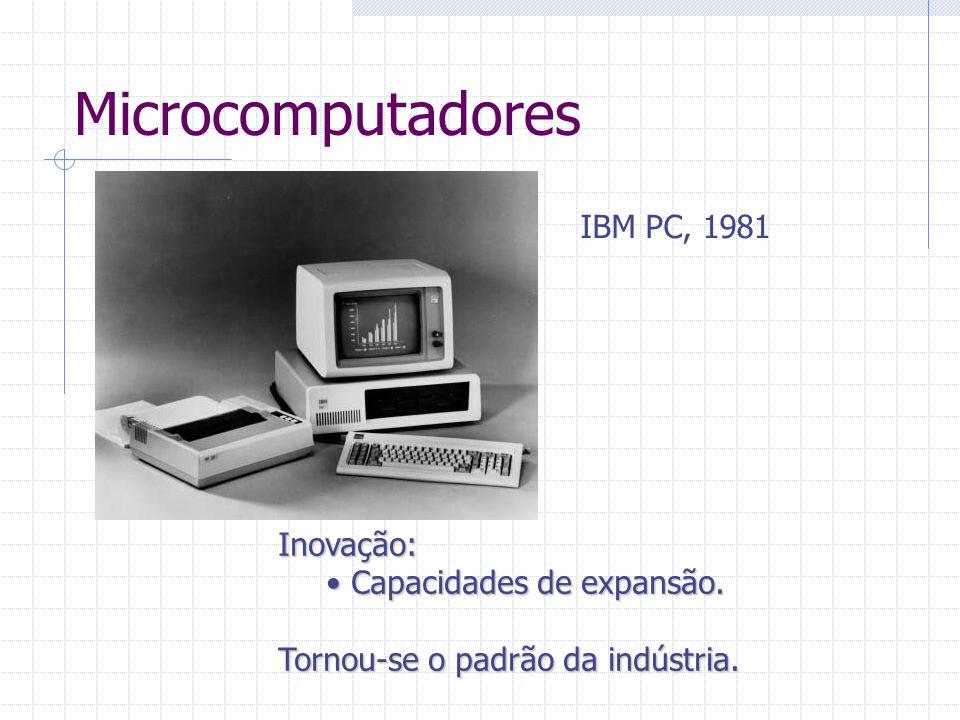 Microcomputadores IBM PC, 1981 Inovação: Capacidades de expansão. Capacidades de expansão. Tornou-se o padrão da indústria.