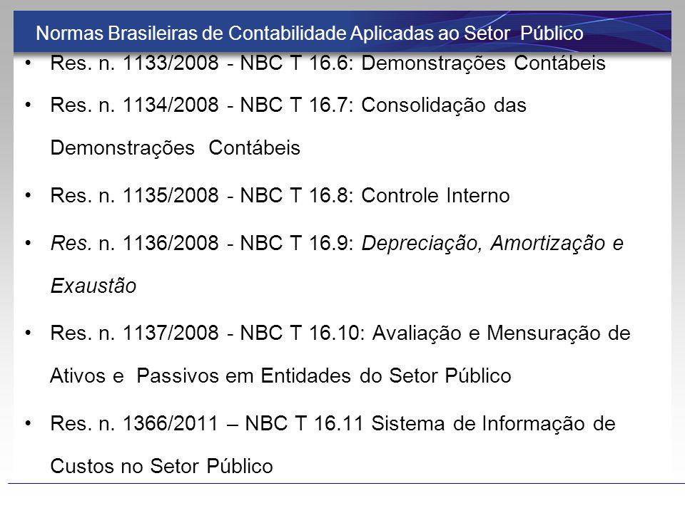 Normas Brasileiras de Contabilidade Aplicadas ao Setor Público Resolução n.