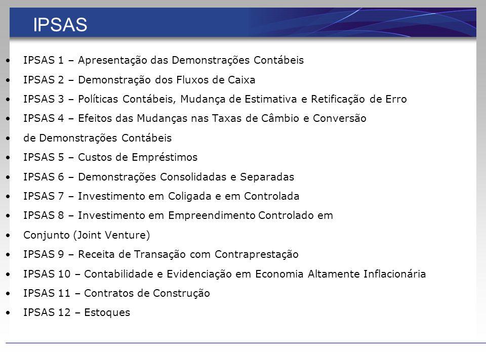 NORMAS INTERNACIONAIS DE CONTABILIDADE PÚBLICA - IPSAS