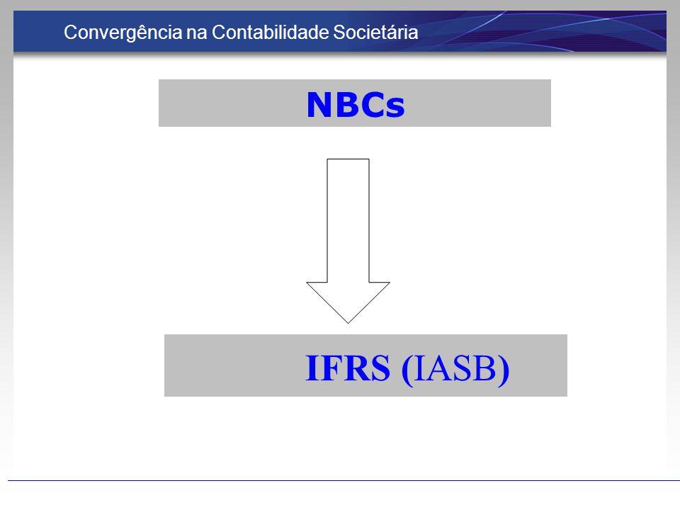 NBCs IFRS (IASB) Convergência na Contabilidade Societária