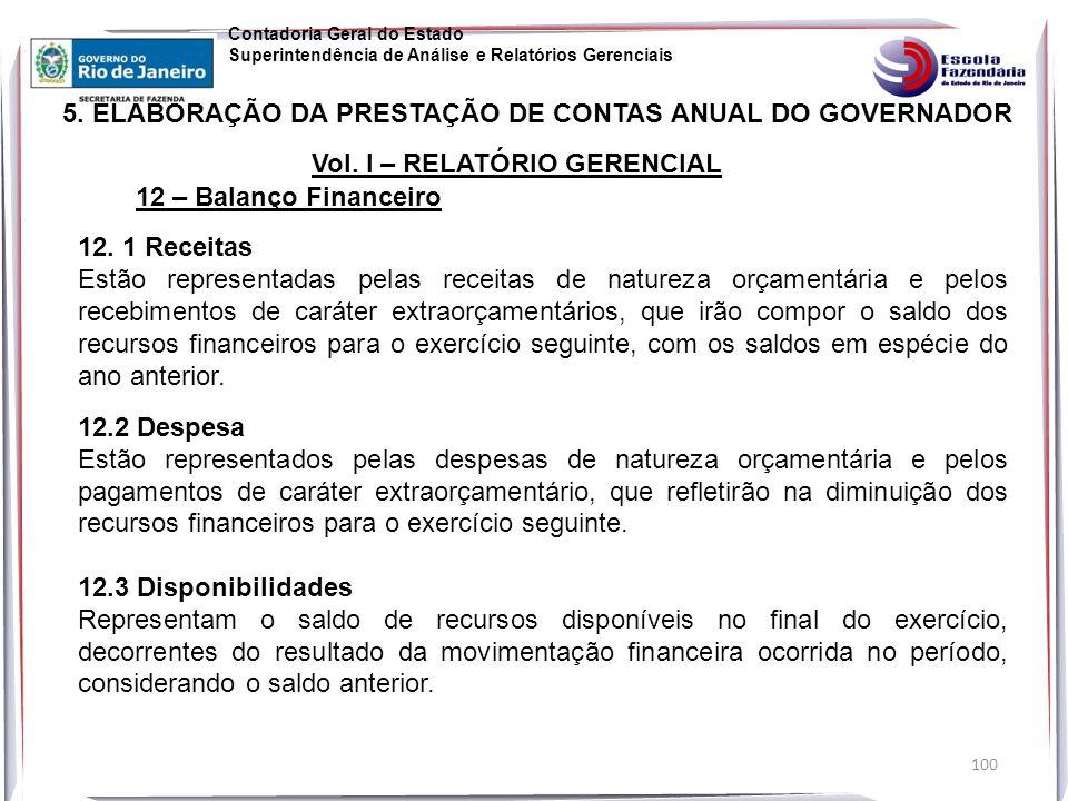 100 5.ELABORAÇÃO DA PRESTAÇÃO DE CONTAS ANUAL DO GOVERNADOR Vol.