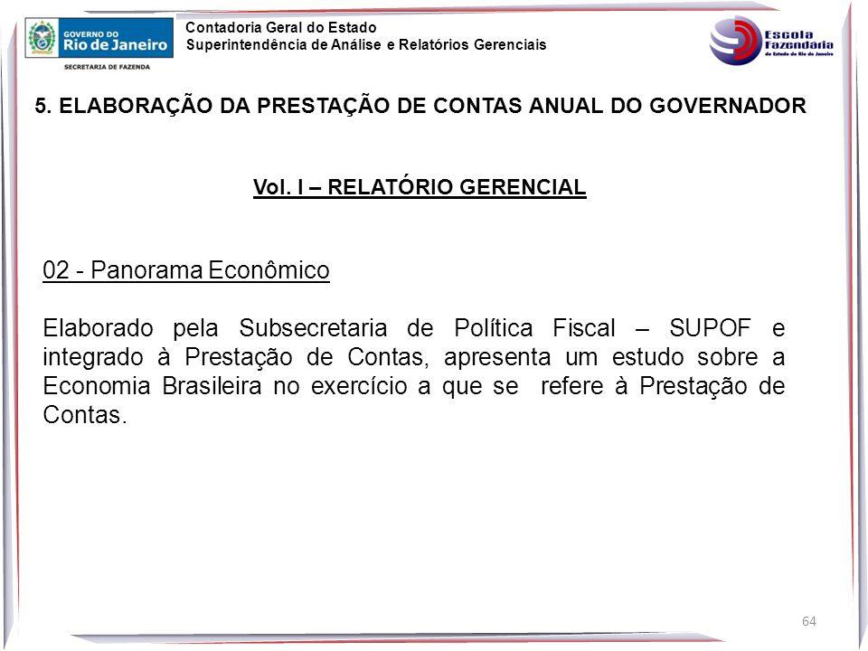 64 5.ELABORAÇÃO DA PRESTAÇÃO DE CONTAS ANUAL DO GOVERNADOR Vol.