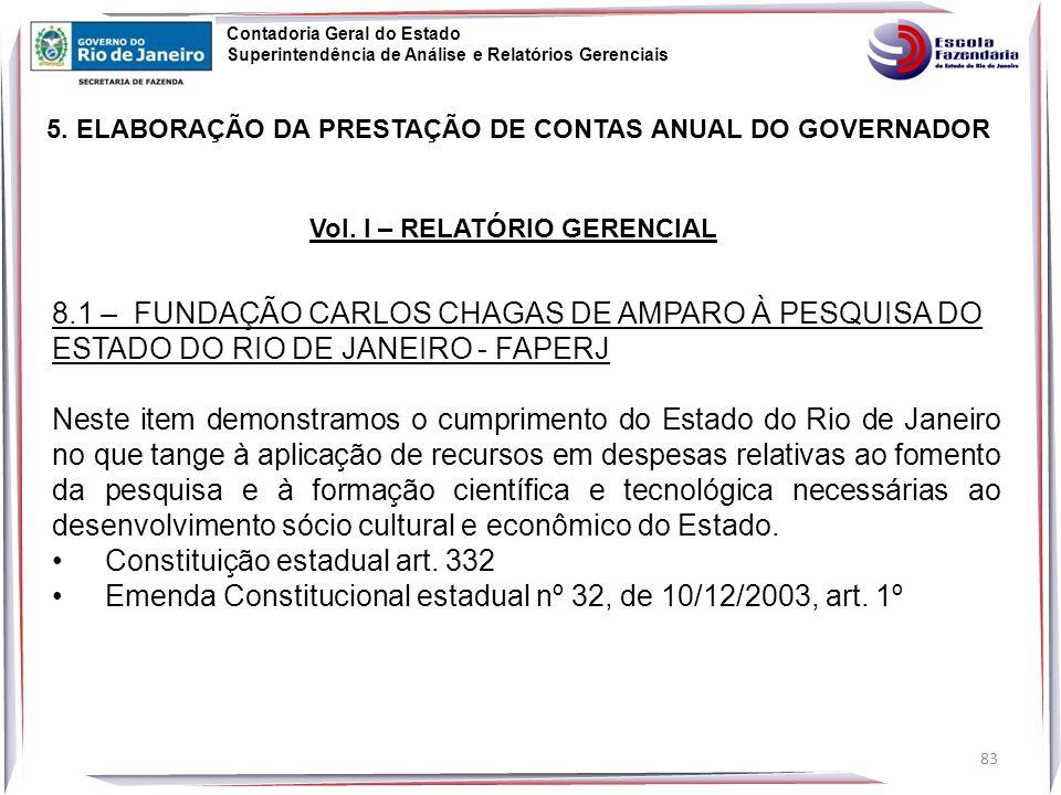 83 5.ELABORAÇÃO DA PRESTAÇÃO DE CONTAS ANUAL DO GOVERNADOR Vol.