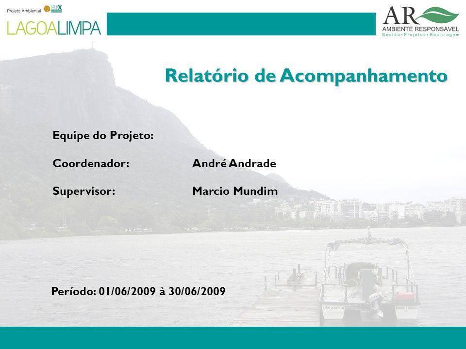 Pag. 2 Relatório de Acompanhamento Equipe do Projeto: Coordenador: André Andrade Supervisor:Marcio Mundim Período: 01/06/2009 à 30/06/2009