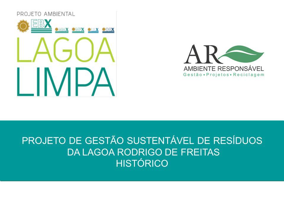 Pag. 1 PROJETO DE GESTÃO SUSTENTÁVEL DE RESÍDUOS DA LAGOA RODRIGO DE FREITAS HISTÓRICO