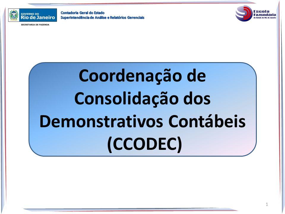 Coordenação de Consolidação dos Demonstrativos Contábeis (CCODEC) 1