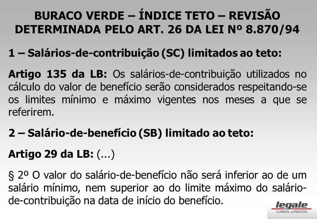 BURACO VERDE – ÍNDICE TETO – REVISÃO DETERMINADA PELO ART.