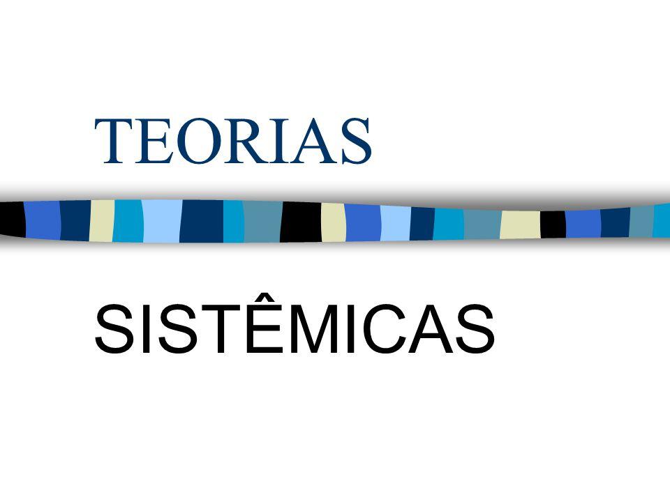TEORIAS SISTÊMICAS