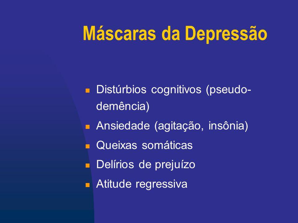 Depressão secundária AVC Demência Doença de Parkinson Distúrbio tireoideano Vasculites Coronariopatias e ICC Câncer Dor crônica