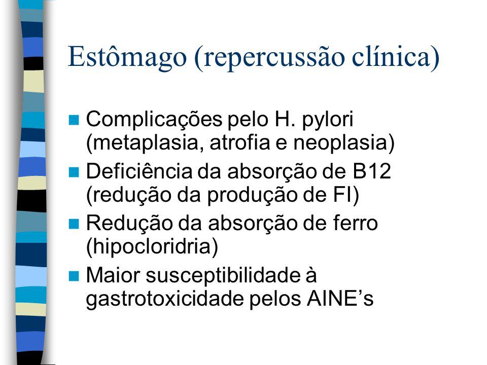 Estômago (repercussão clínica) Complicações pelo H.