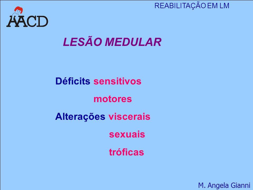REABILITAÇÃO EM LM M.