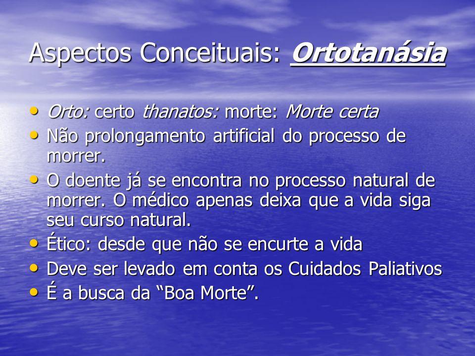 ORTOTANÁSIA E RESOLUÇÃO CFM 09/nov/1999: Resolução: 09/nov/1999: Resolução: