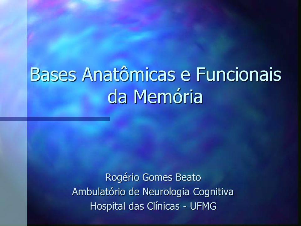 Bases Anatômicas e Funcionais da Memória Rogério Gomes Beato Ambulatório de Neurologia Cognitiva Hospital das Clínicas - UFMG