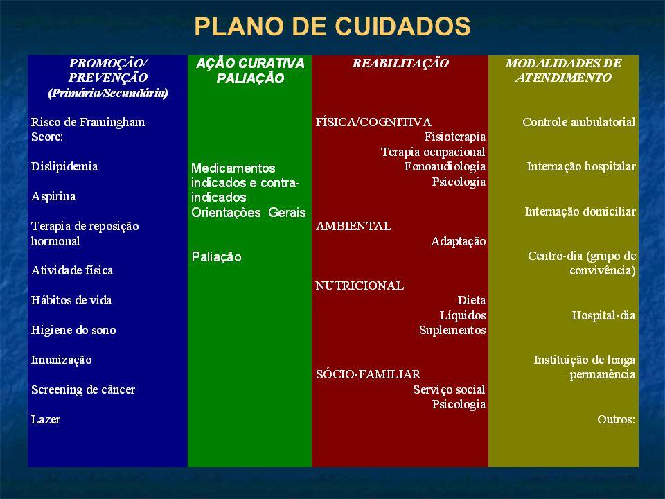 PLANO DE CUIDADOS
