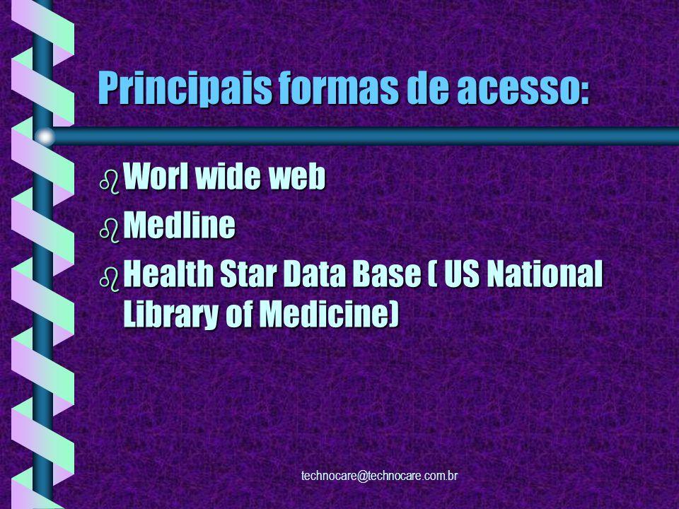 technocare@technocare.com.br Como encontrar informações de efetividade de intervenções clínicas.