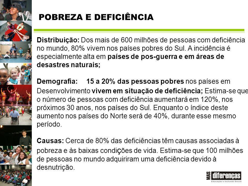 Distribuição: Dos mais de 600 milhões de pessoas com deficiência no mundo, 80% vivem nos países pobres do Sul.