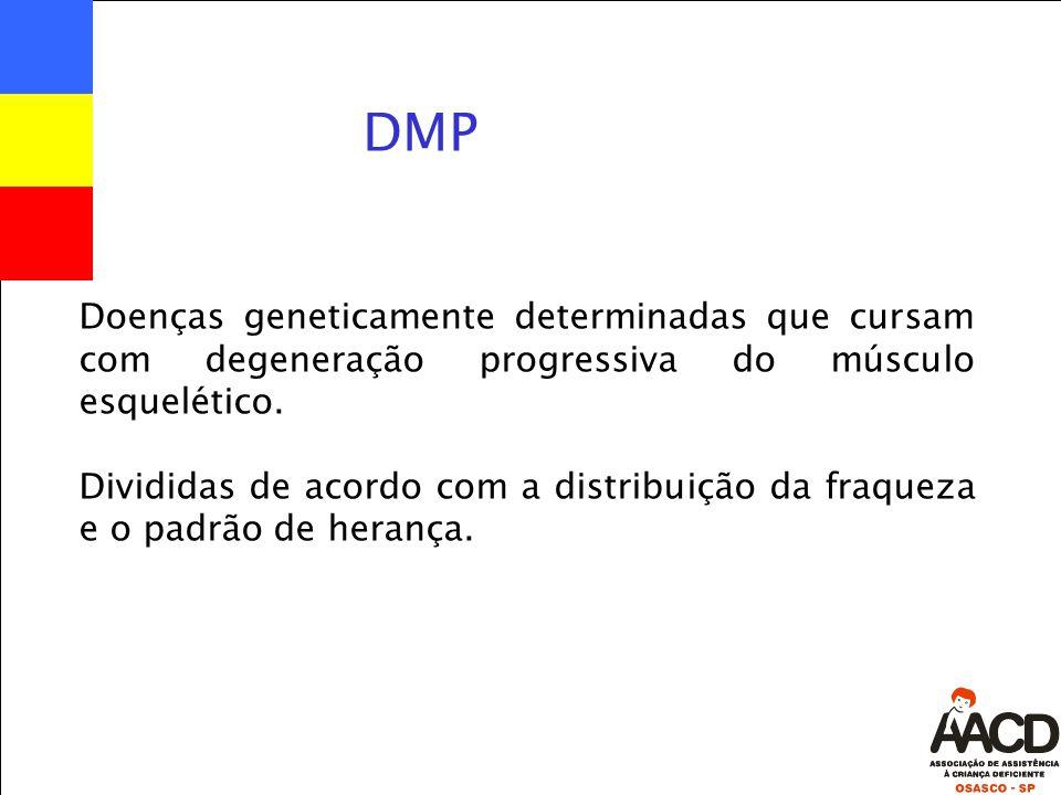 Doenças geneticamente determinadas que cursam com degeneração progressiva do músculo esquelético.
