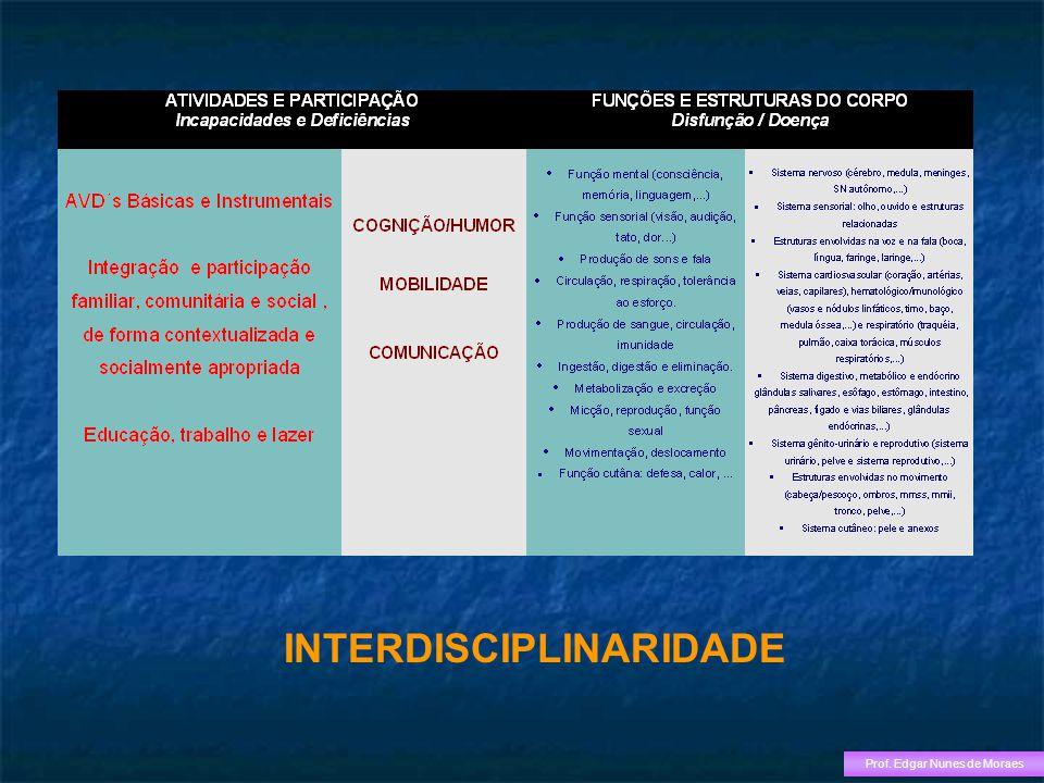 INTERDISCIPLINARIDADE Prof. Edgar Nunes de Moraes
