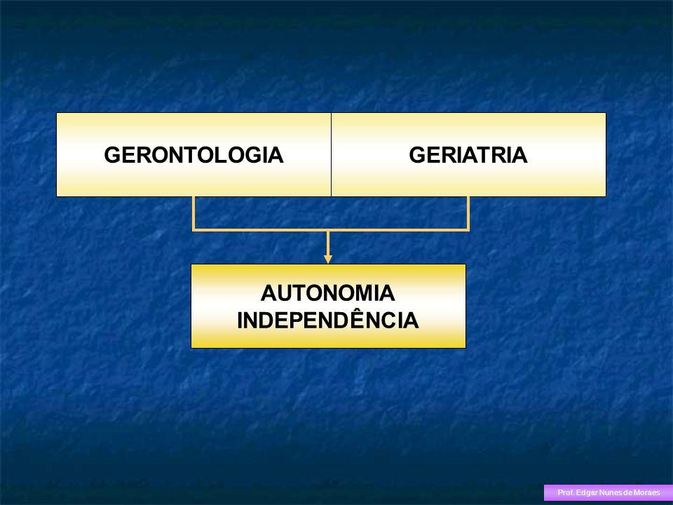 GERONTOLOGIAGERIATRIA AUTONOMIA INDEPENDÊNCIA Prof. Edgar Nunes de Moraes