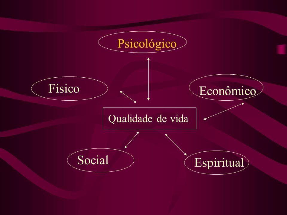 Psicológico Físico Social Qualidade de vida Econômico Espiritual