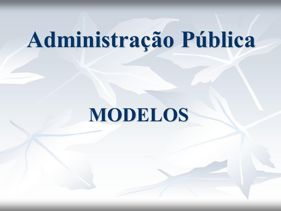 Administração Pública MODELOS