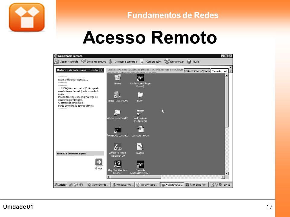 17Unidade 01 Fundamentos de Redes Acesso Remoto