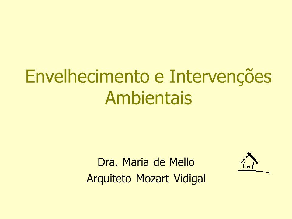 Envelhecimento e Intervenções Ambientais Dra. Maria de Mello Arquiteto Mozart Vidigal