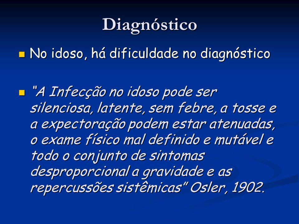 """Diagnóstico No idoso, há dificuldade no diagnóstico No idoso, há dificuldade no diagnóstico """"A Infecção no idoso pode ser silenciosa, latente, sem feb"""