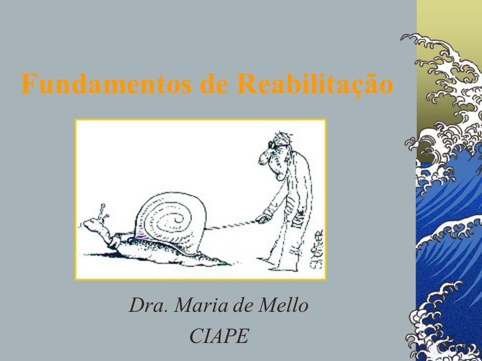 Fundamentos de Reabilitação Dra. Maria de Mello CIAPE