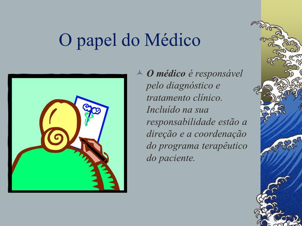 O papel do Médico O médico é responsável pelo diagnóstico e tratamento clínico.