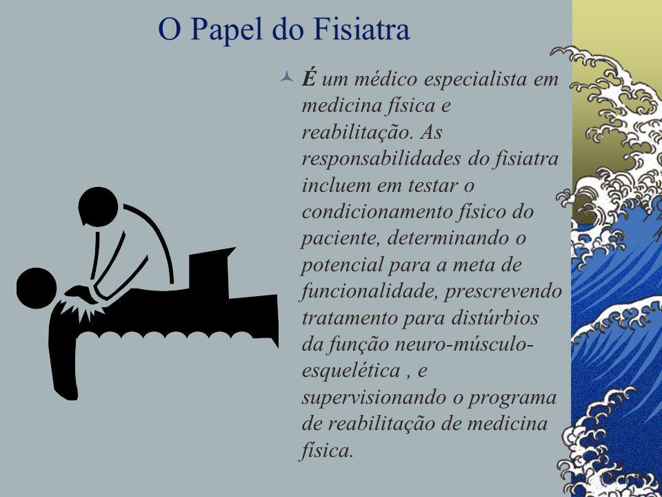 O Papel do Fisiatra É um médico especialista em medicina física e reabilitação.
