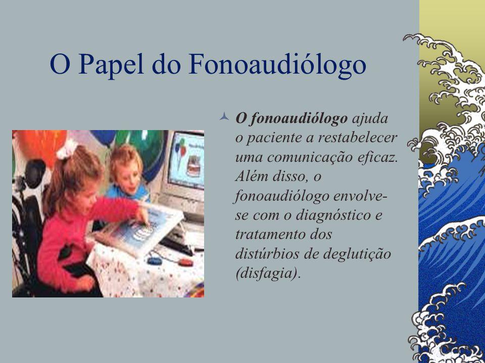 O Papel do Fonoaudiólogo O fonoaudiólogo ajuda o paciente a restabelecer uma comunicação eficaz.