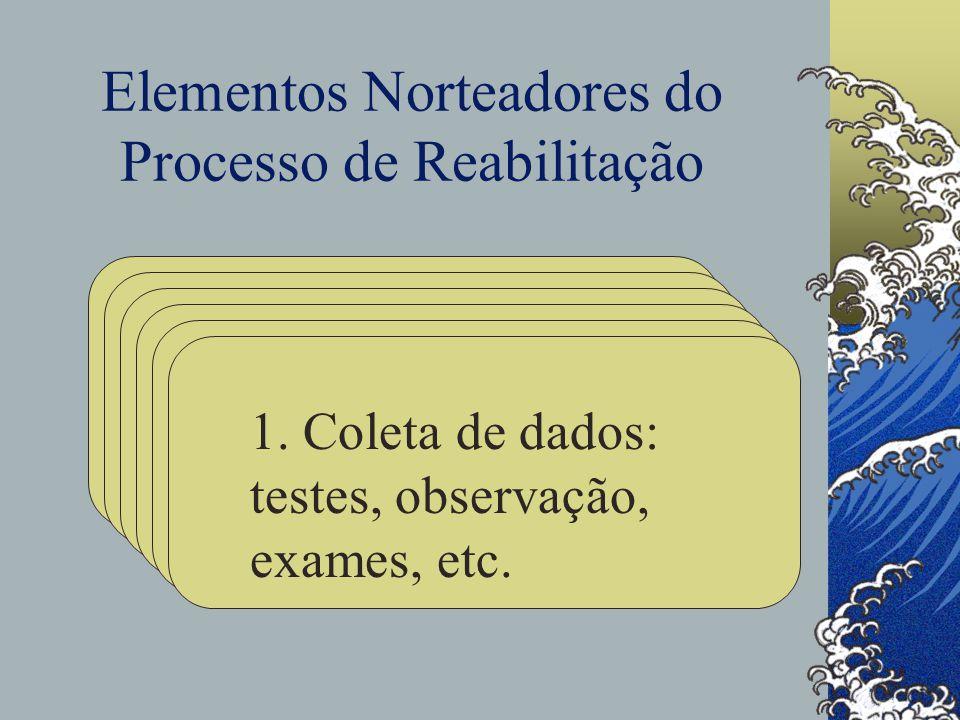 Elementos Norteadores do Processo de Reabilitação 1.