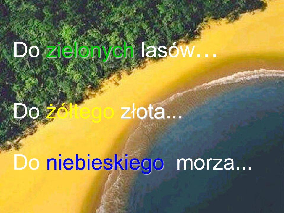 zielonych Do zielonych lasów... zota Do żółtego złota... niebieskiego Do niebieskiego morza...