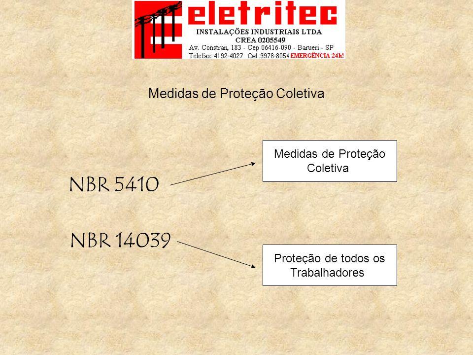 Medidas de Proteção Coletiva NBR 5410 NBR 14039 Medidas de Proteção Coletiva Proteção de todos os Trabalhadores