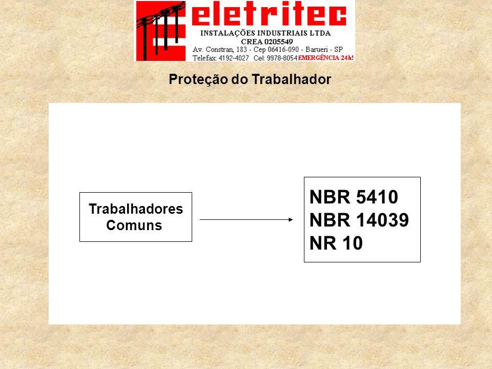 Trabalhadores Comuns NBR 5410 NBR 14039 NR 10