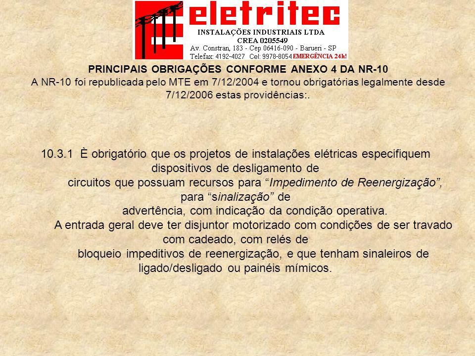Profissionais da área de eletricidade NBR 5410 NBR 14039 NR 10 Proteção do Trabalhador