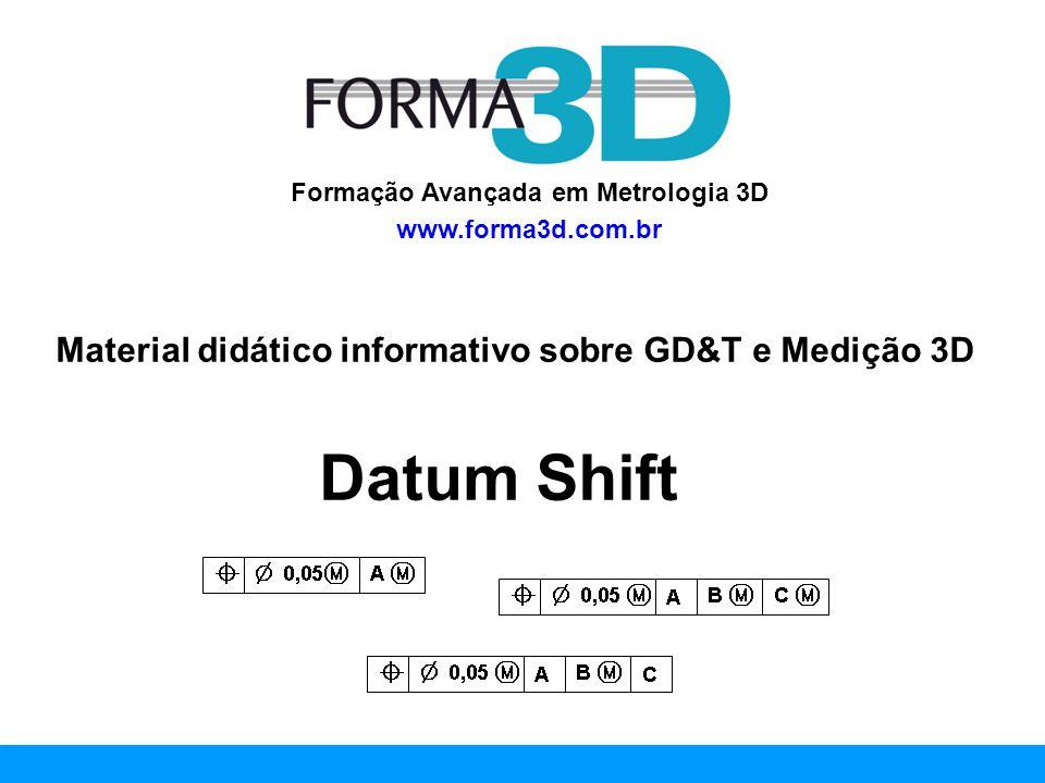 www.forma3d.com.br Com a disseminação do GD&T nos projetos de engenharia, a especificação geométrica dos produtos tem ficado cada vez mais avançada.