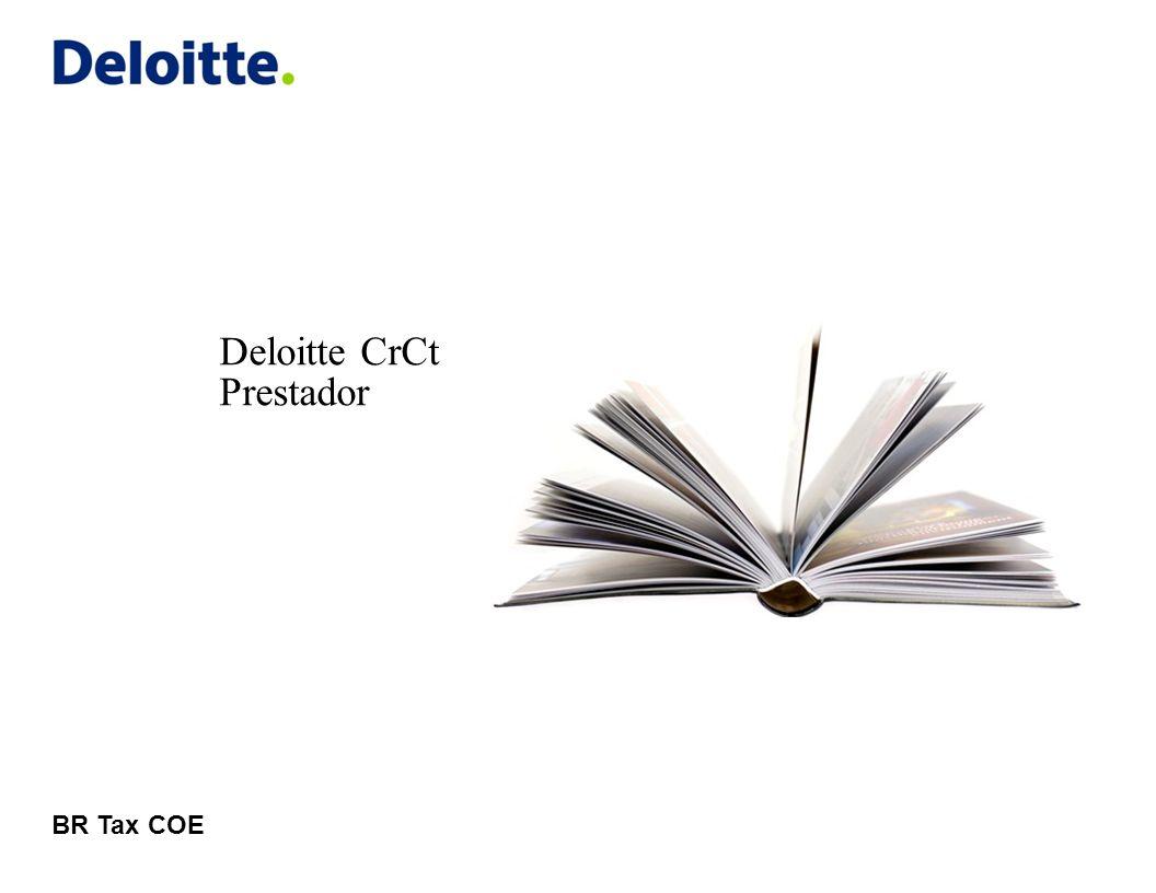 © 2011 Deloitte Global Services Limited Carga de documentos Carregando arquivos em lote 22Deloitte CrCt Para adicionar arquivos em lote, deve-se selecionar a aba Envio de documentos em lote , e clicar no botão Adicionar Selecione o arquivo correspondente